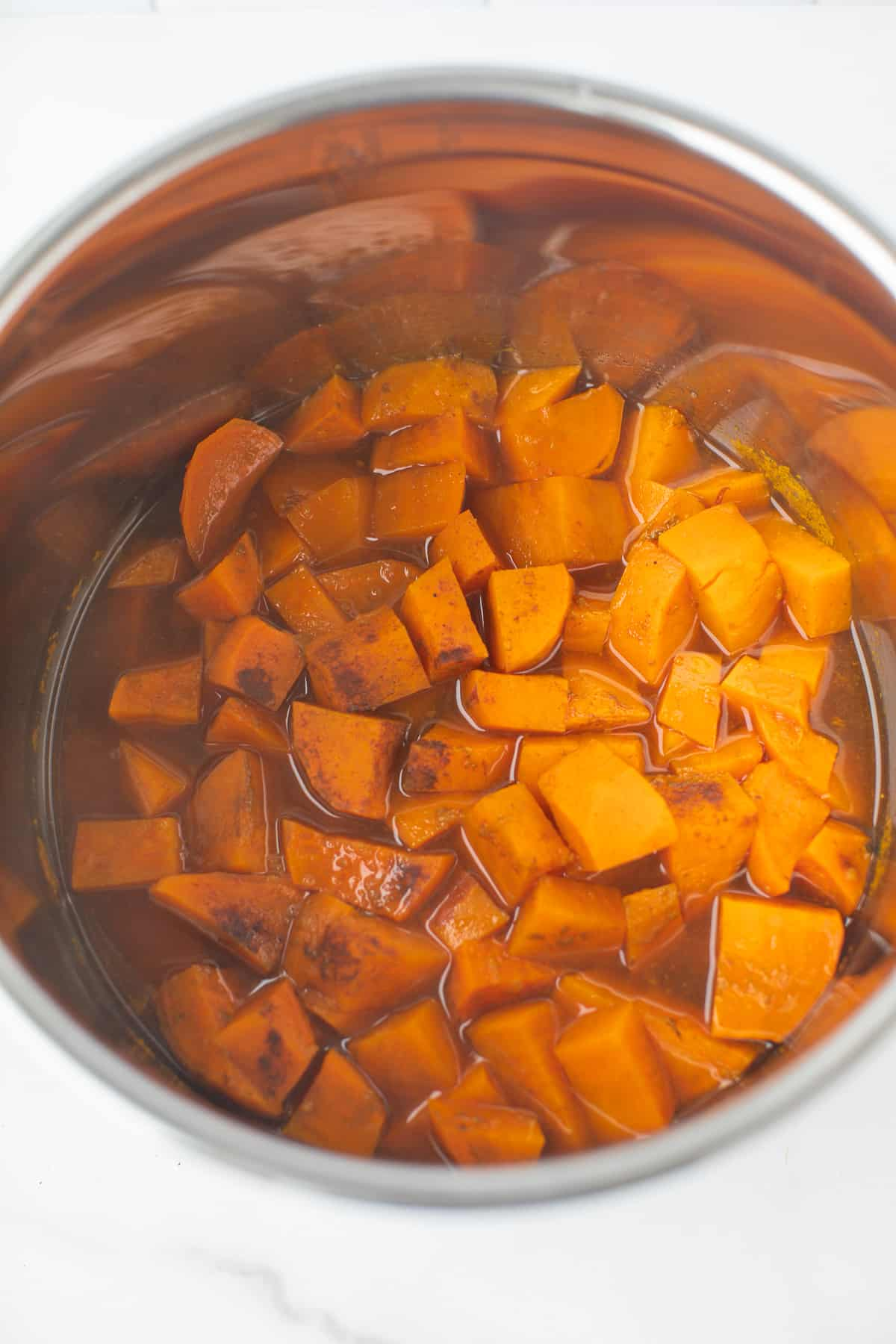 cooked yams in an instant pot