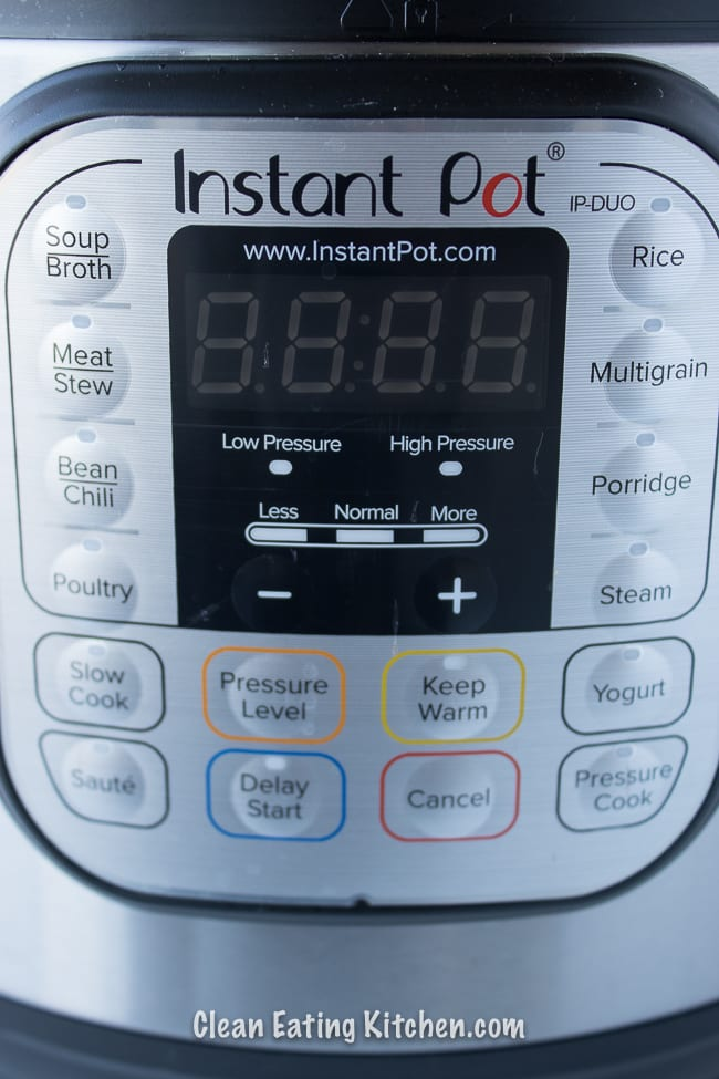 instant pot panel with buttons