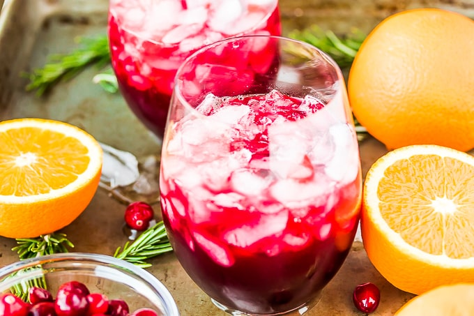 mocktail with oranges
