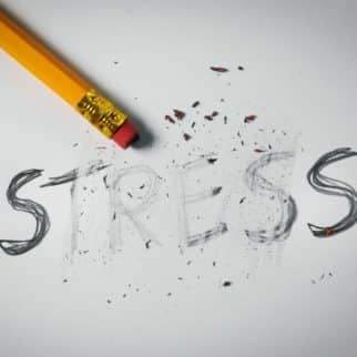 stress being erased on a paper