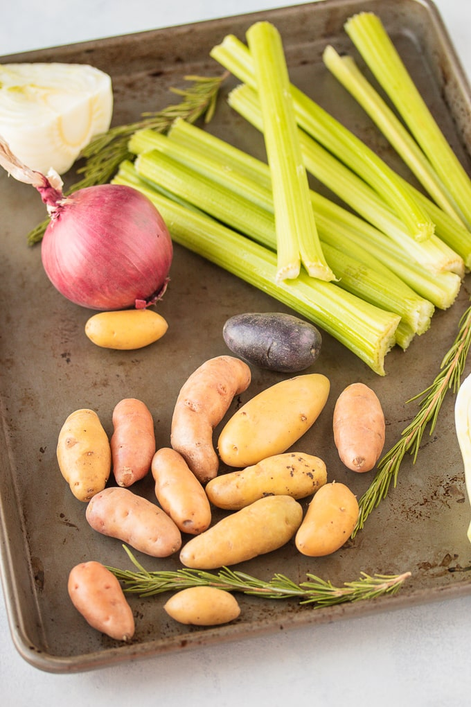 vegetable ingredients to go into the crockpot