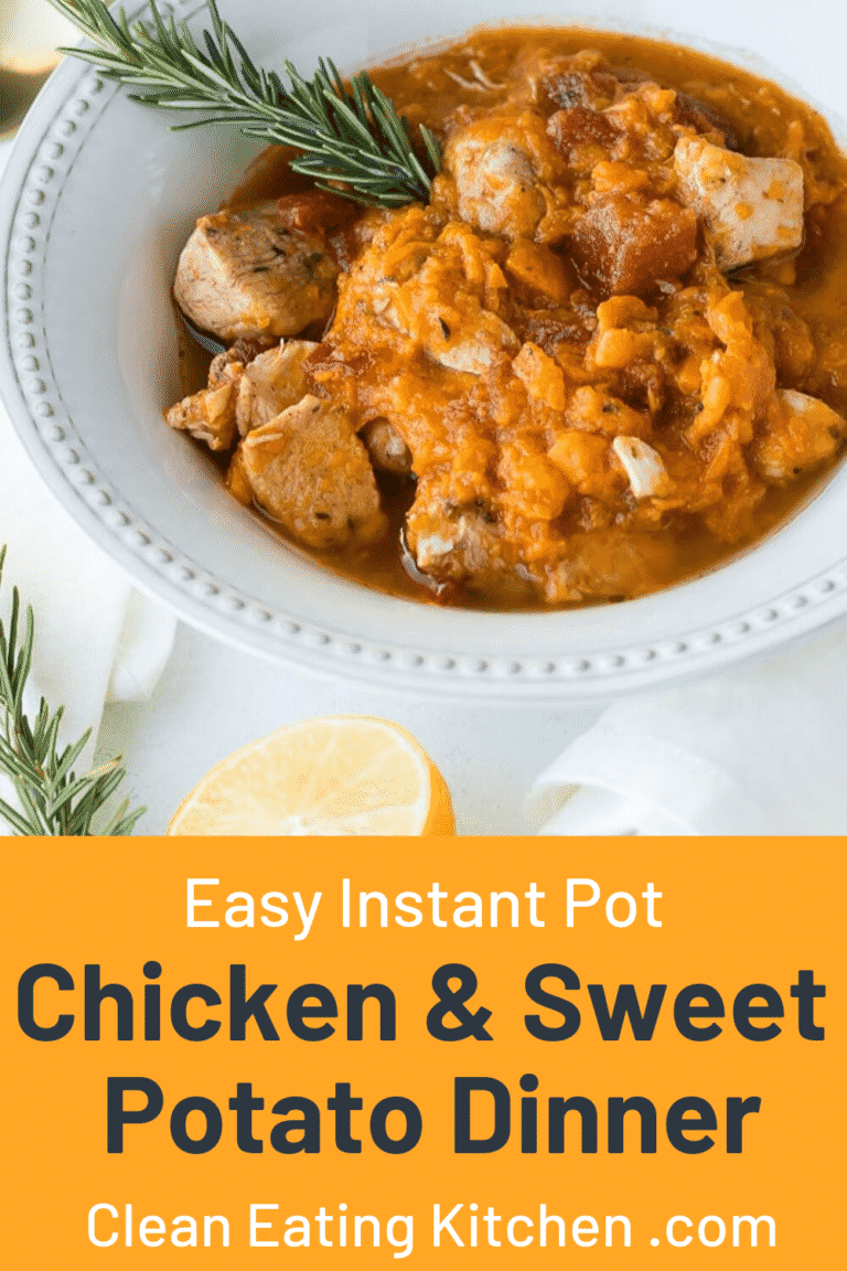 easy instant pot chicken and sweet potato dinner