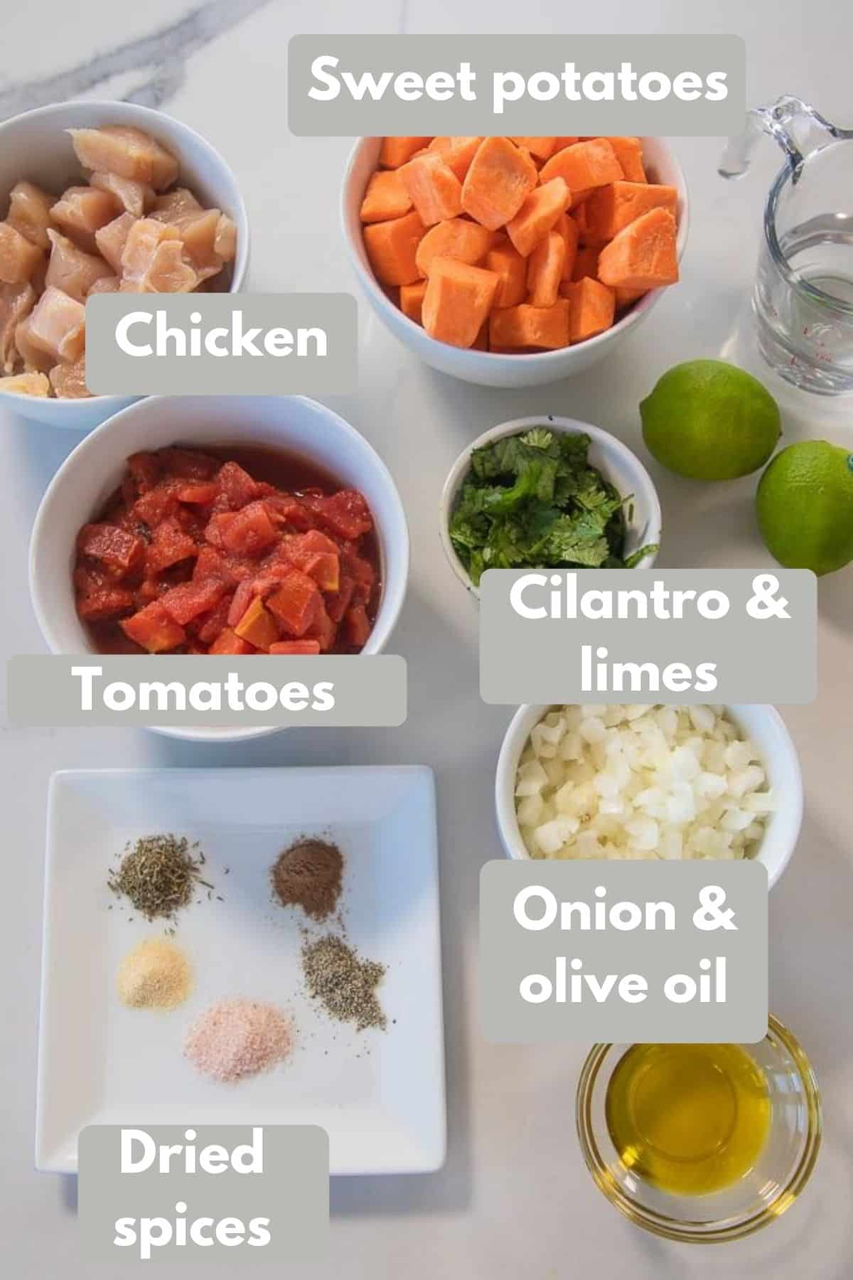 ingredients for instant pot chicken dinner
