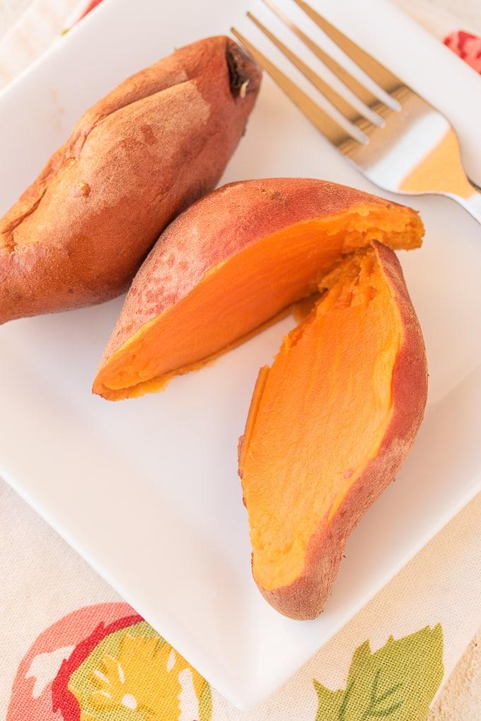 instant pot sweet potatoes whole cut in half