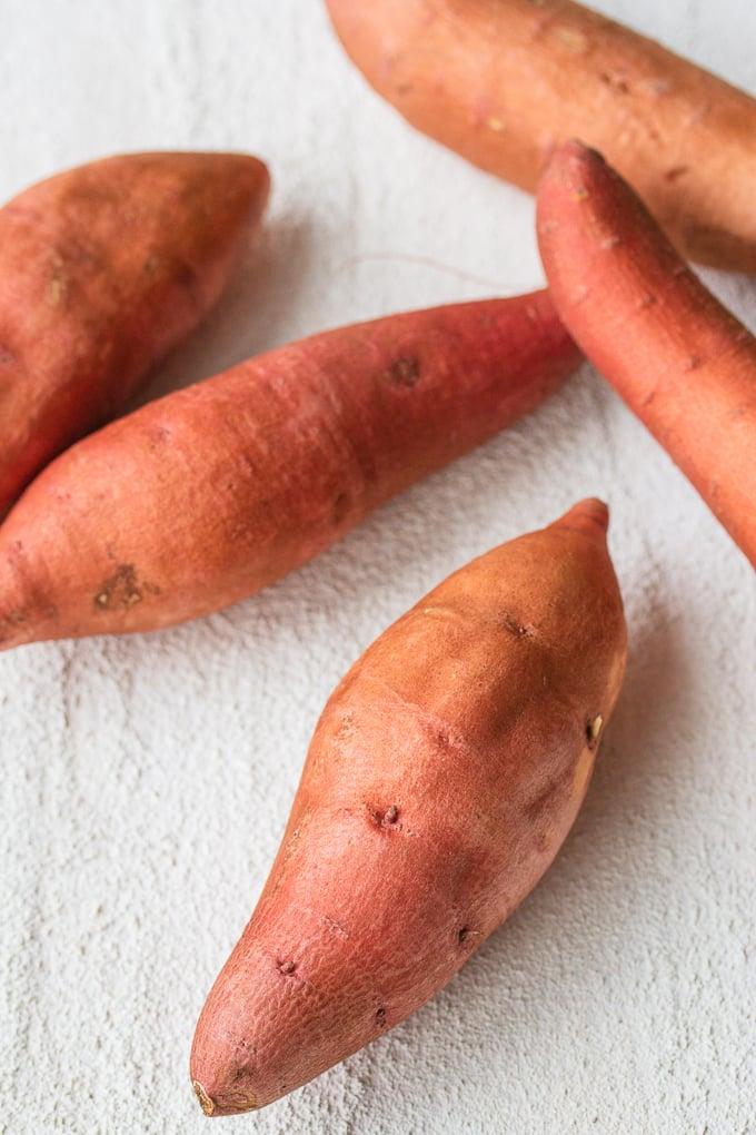 uncooked sweet potatoes