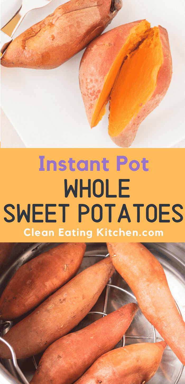 instant pot whole sweet potatoes