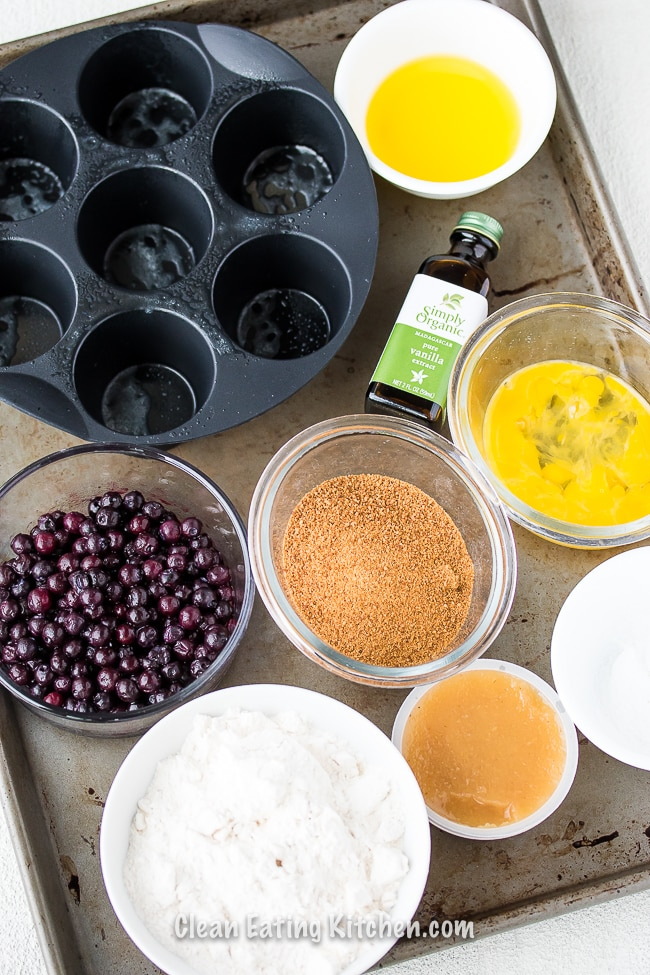 air fryer blueberry muffin ingredients