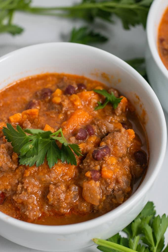 instant pot beef sweet potato chili texture