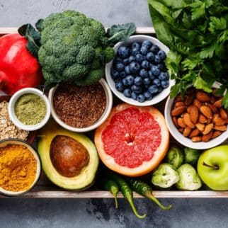 platter filled with real food ingredients