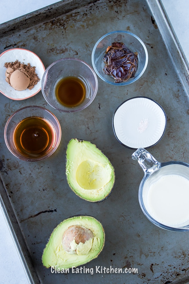 avocado chocolate pudding ingredients