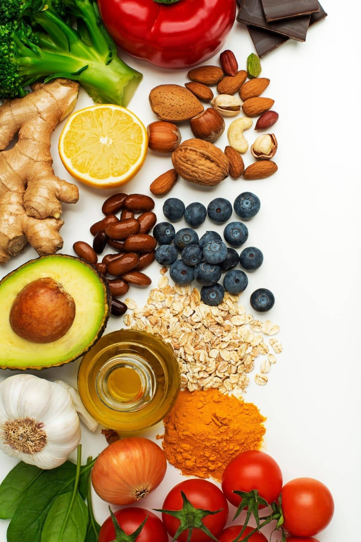 buffet of healthy food ingredients