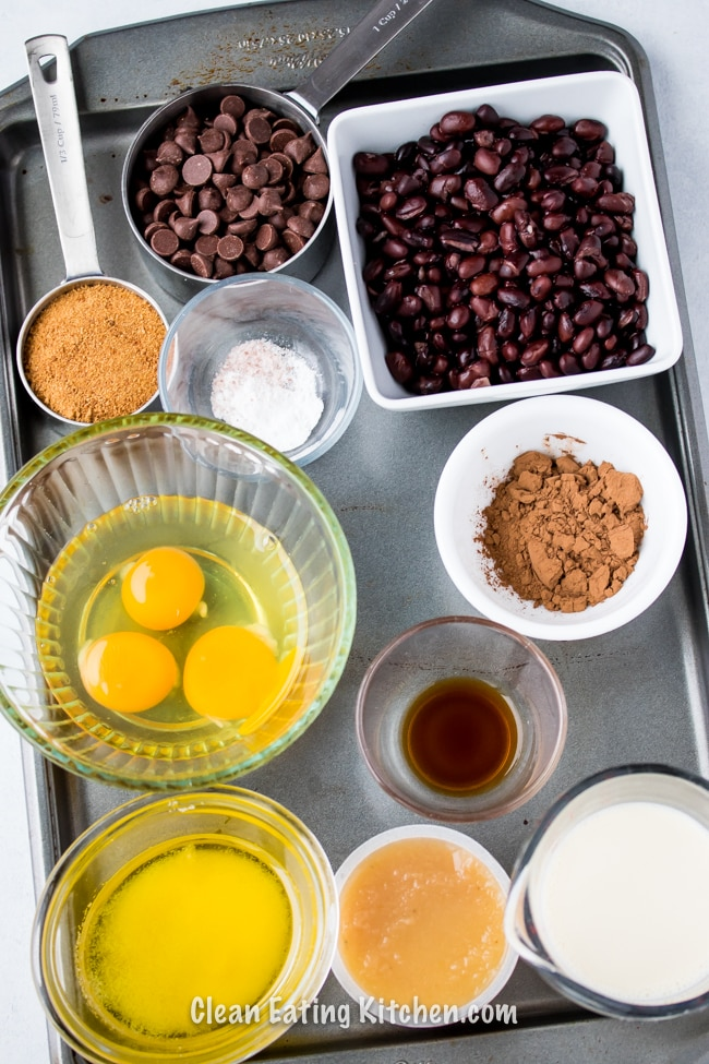 grain free black bean brownie ingredients