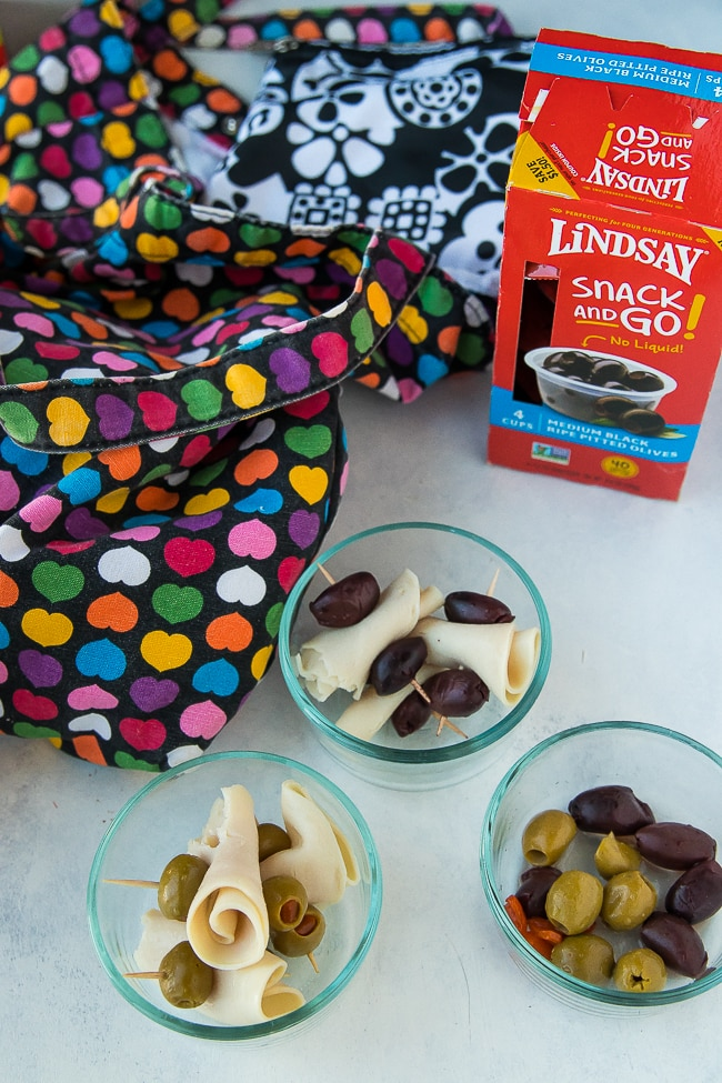 lindsay olive meal prep snack cups with workout bag
