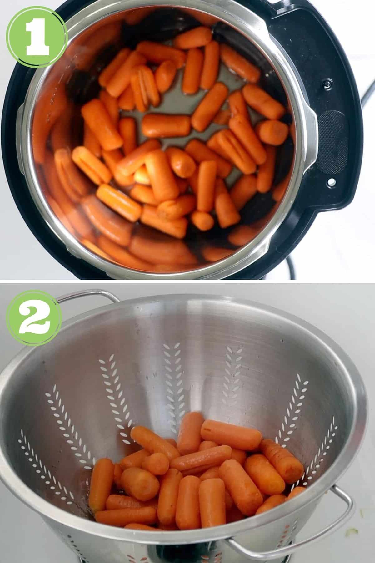 instant pot carrot process shots