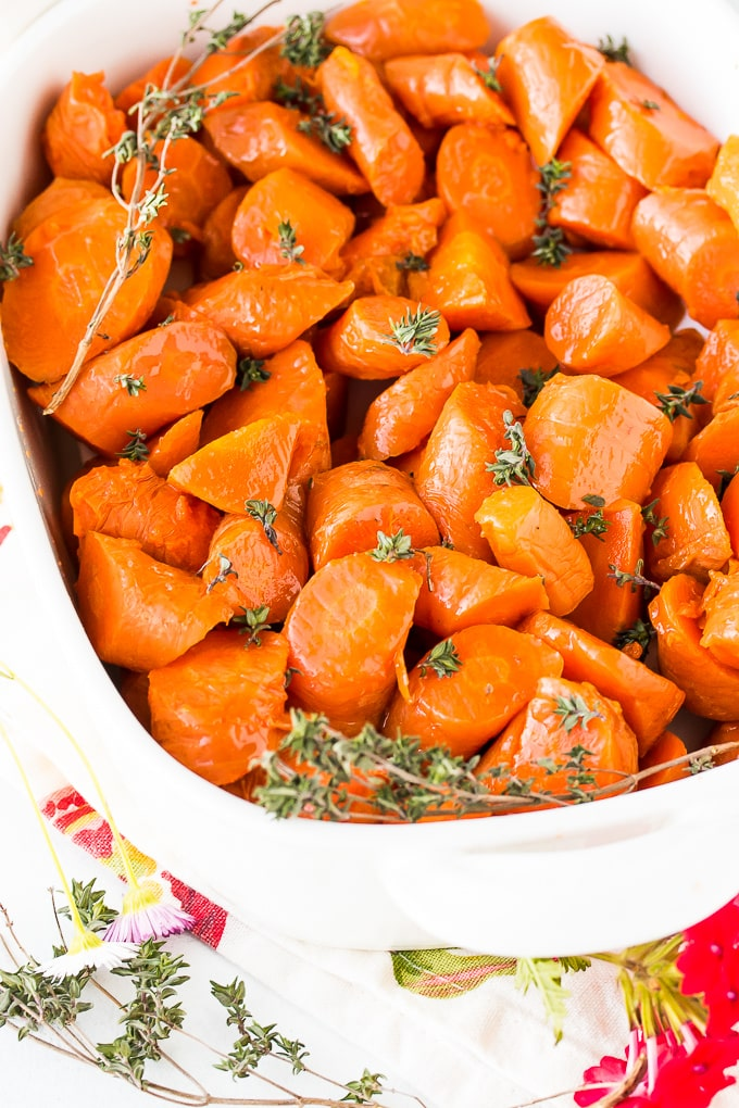 instant pot carrots in serving dish