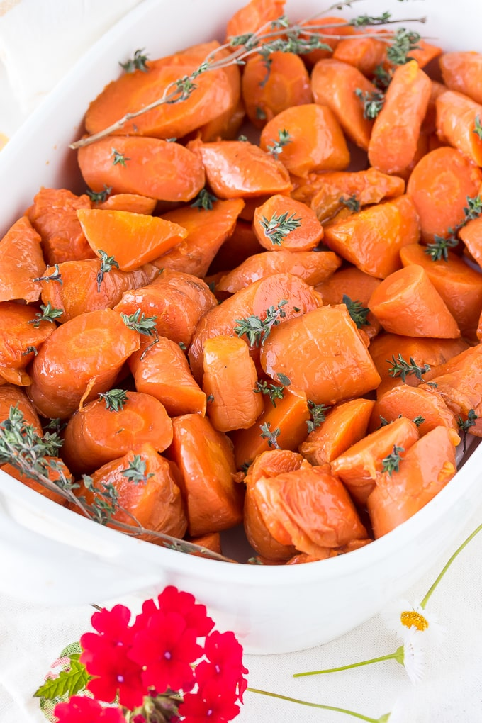 instant pot cooked carrots with thyme
