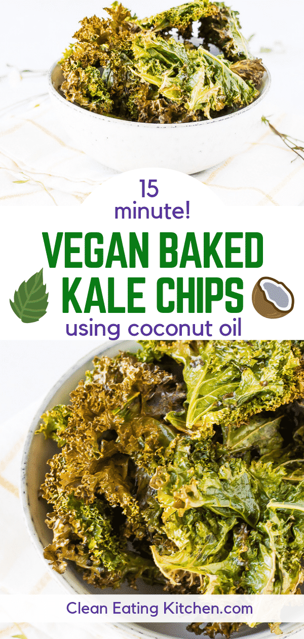vegan baked kale chips with coconut oil