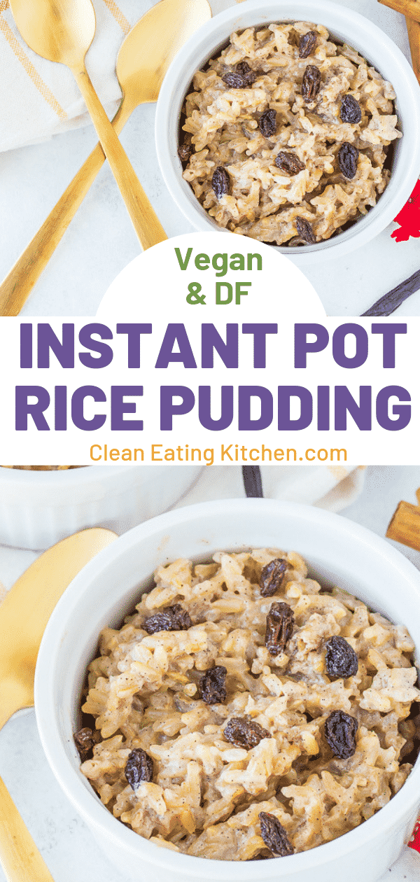 Instant Pot Brown Rice Pudding (Dairy-Free) - Clean Eating ...