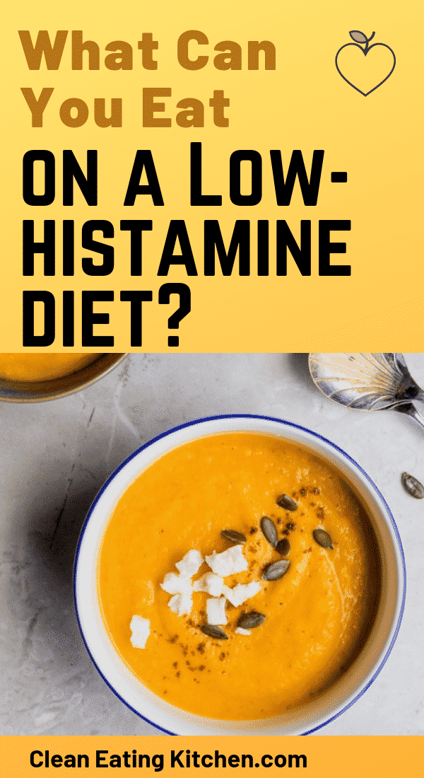 what can you eat on a low histamine diet