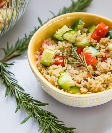 instant pot lemon quinoa vegetable salad with rosemary
