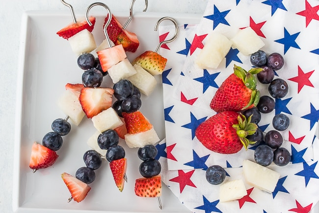 patriotic vegan fruit kabobs