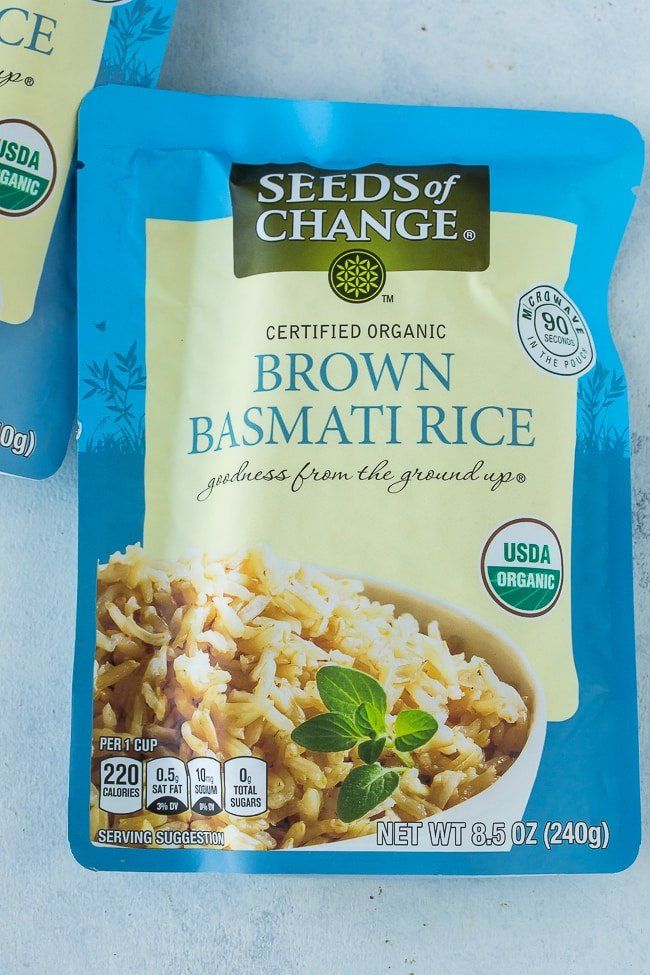 Seeds of Change Brown Basmati Rice package
