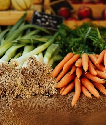 Fresh Vegetables at stand