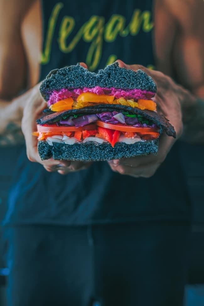 Rainbow Vegan Sandwhich