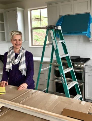carrie in kitchen studio