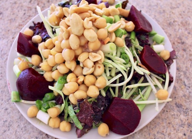 salad with beets