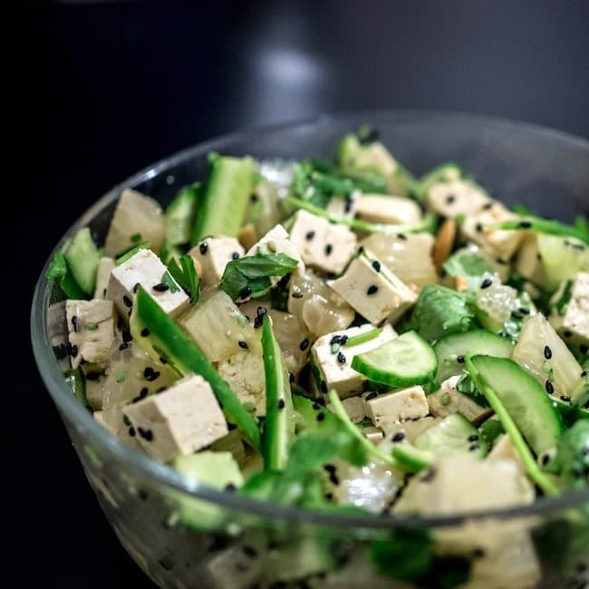 tofu veggie bowl