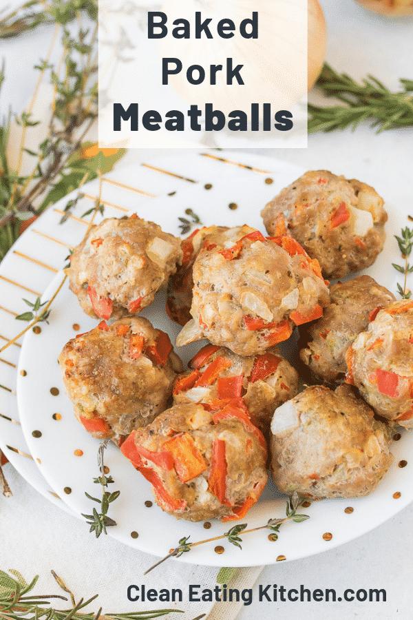 baked pork meatballs