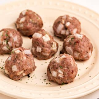 paleo pork meatballs on plate