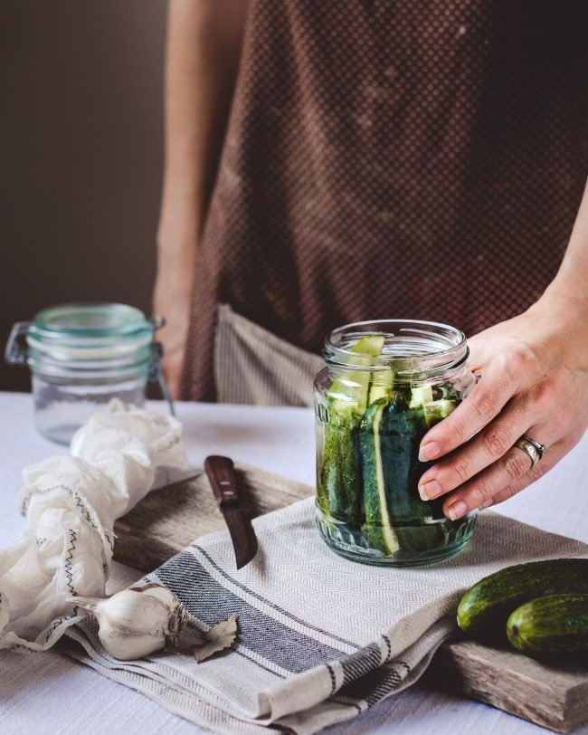 Fermenting veggies: pickles