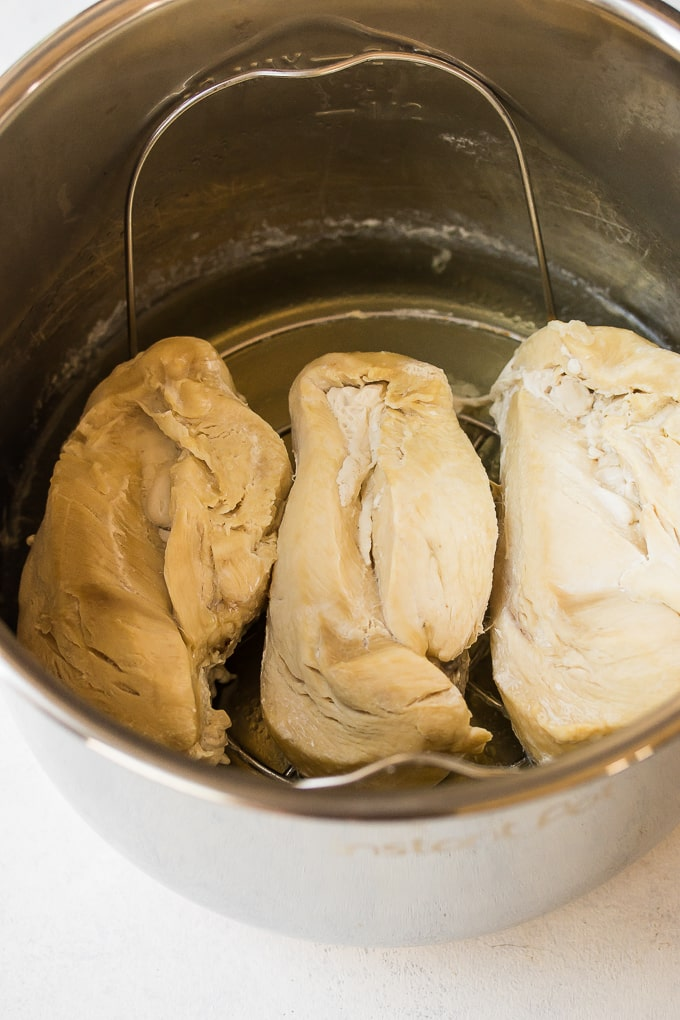 cooked instant pot chicken breasts