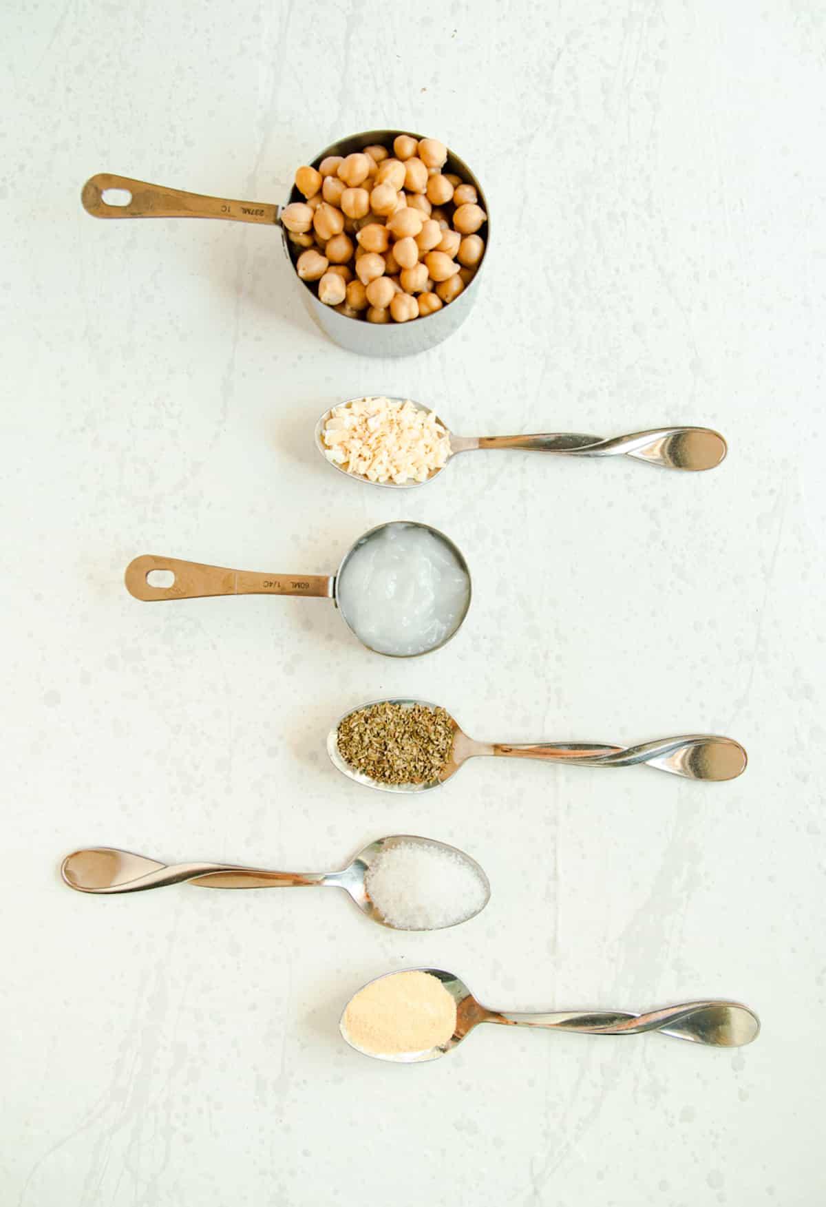 seasonings for garlic roasted chickpeas