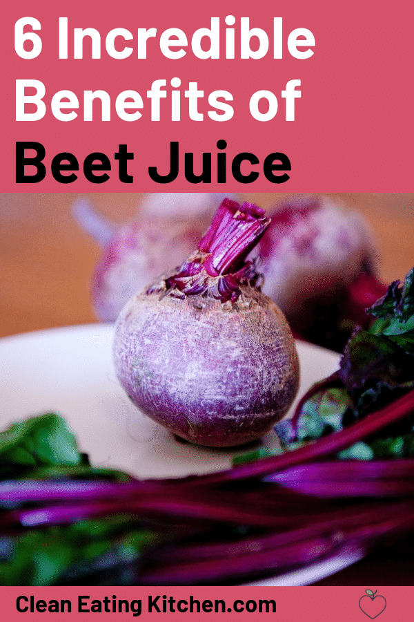 6 benefits of beet juice pin image