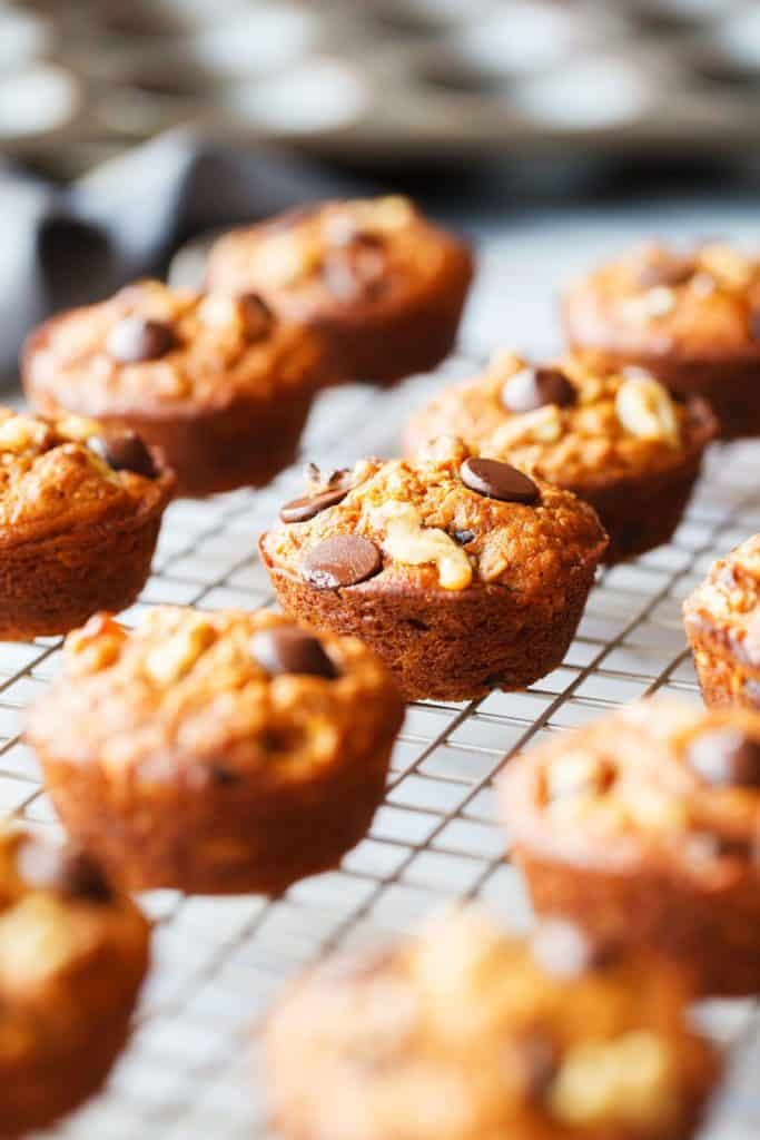 Sweet Potato Muffins on cooling rack
