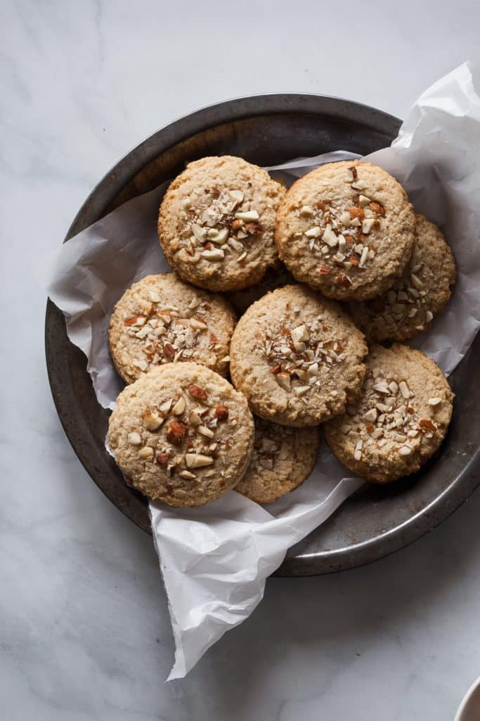 pecan cookies on a plate ready to serve