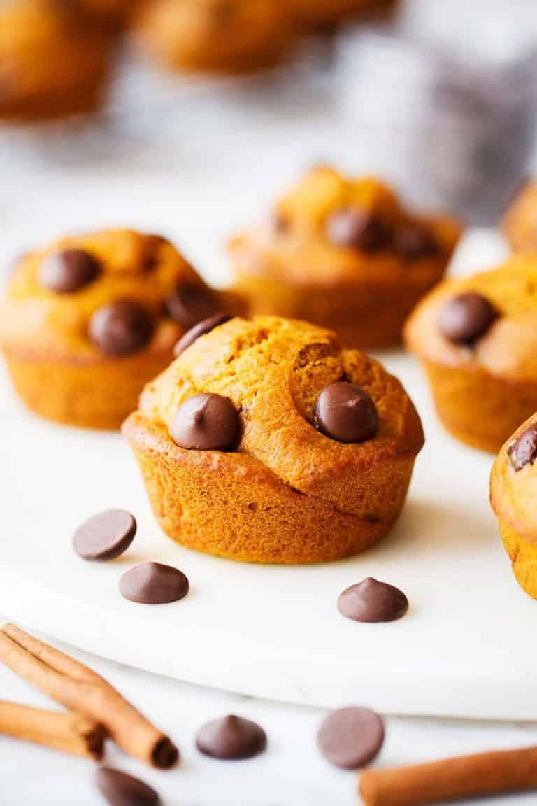 Gluten Free Pumpkin Muffins served on a plate