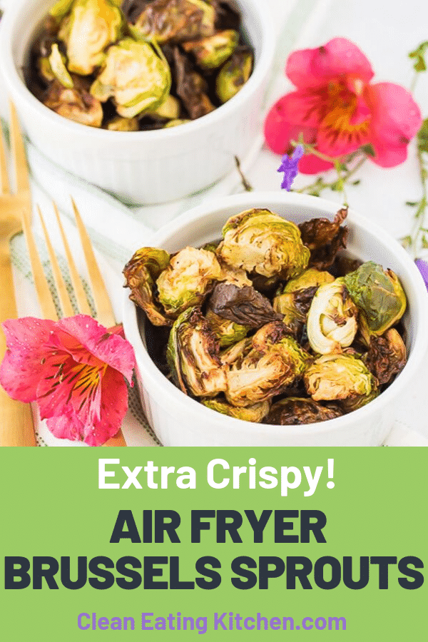 If you're looking for an easy way to prepare a healthy vegetable side dish, then try these Air Fryer Brussels Sprouts! You'll be surprised how crispy and delicious these are.