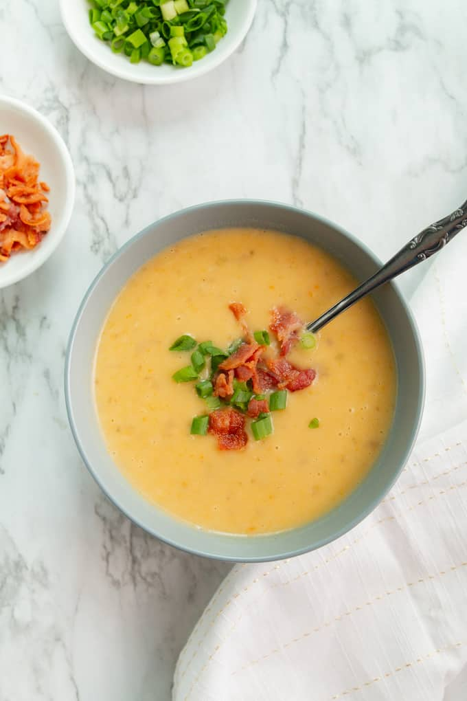 Healthy Instant Pot Potato Soup Recipe that's comforting and flavorful.