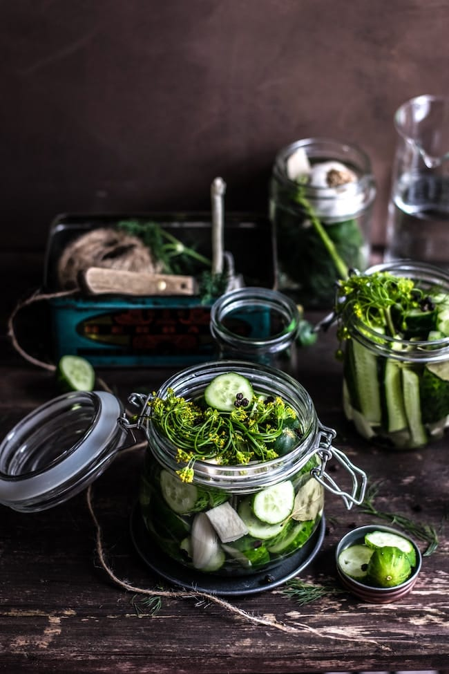 fermented veggies in jars