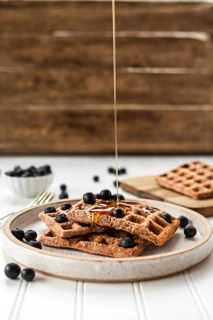 waffles with liquid sweetener