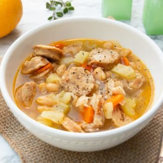 Instapot White Bean Sausage Soup