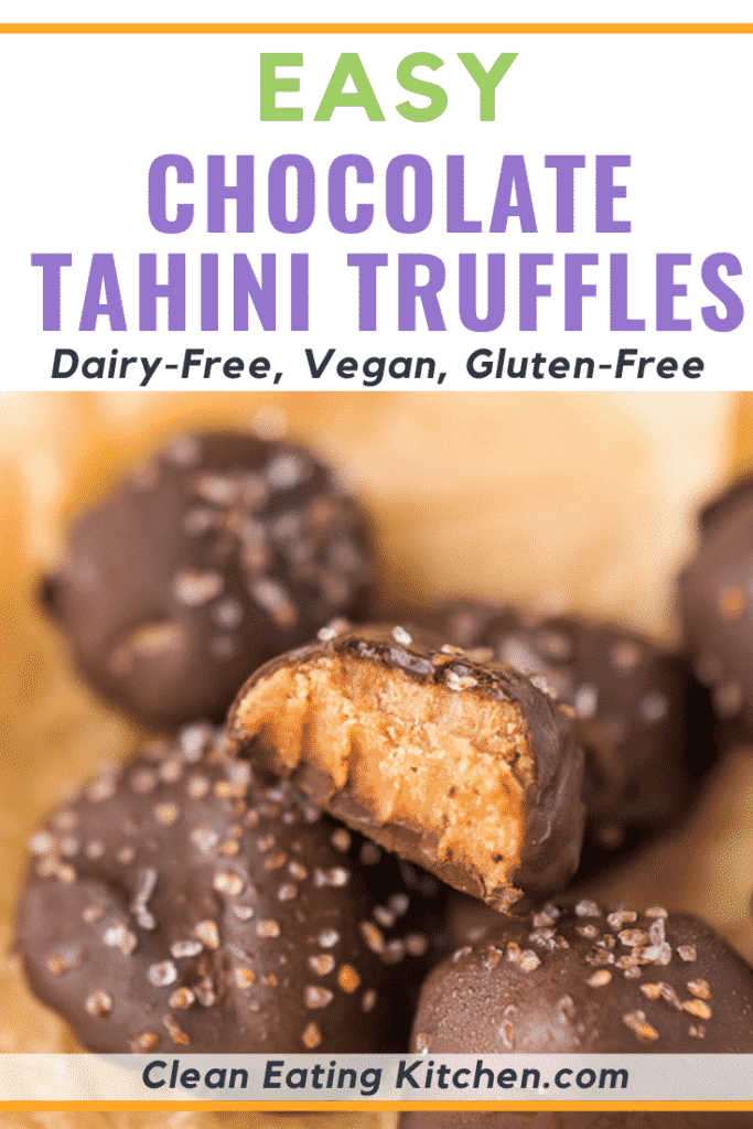 easy chocolate tahini truffles that are dairy-free, vegan and gluten-free