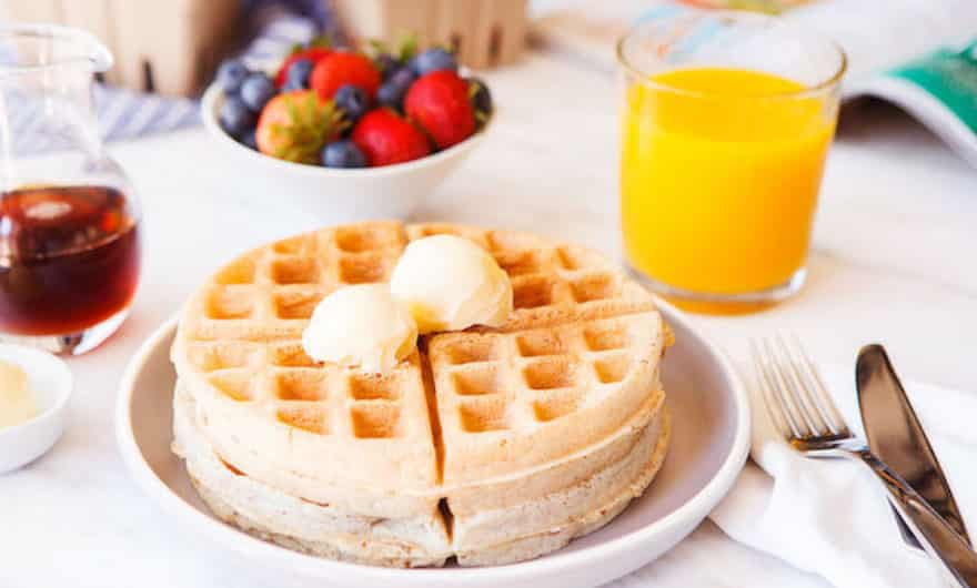 dairy free waffles on a plate