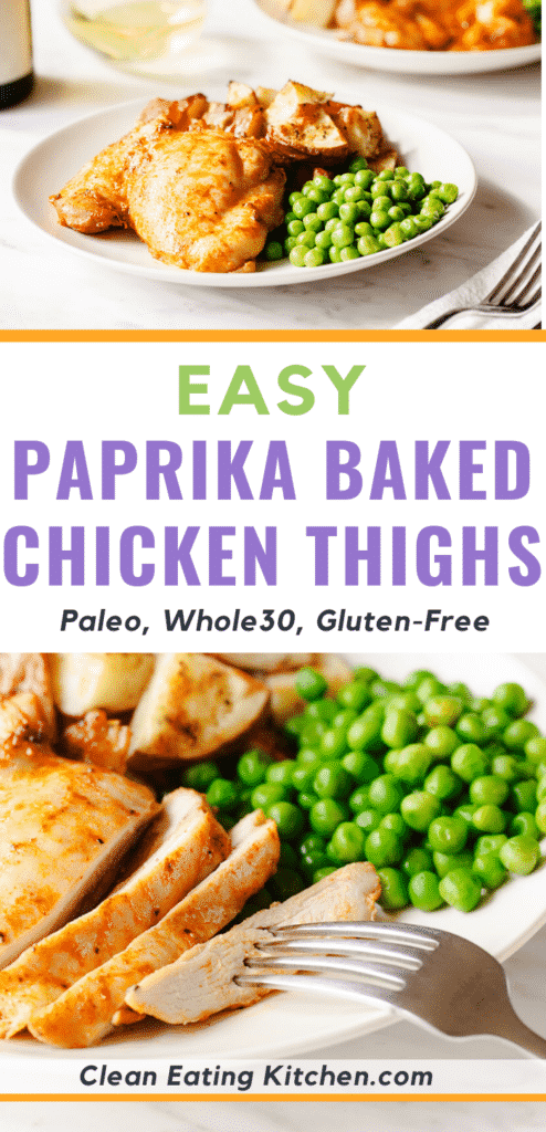 easy paprika baked chicken thighs