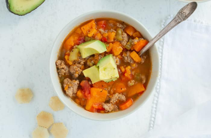 Instant Pot Sweet Potato and Ground Turkey Chili