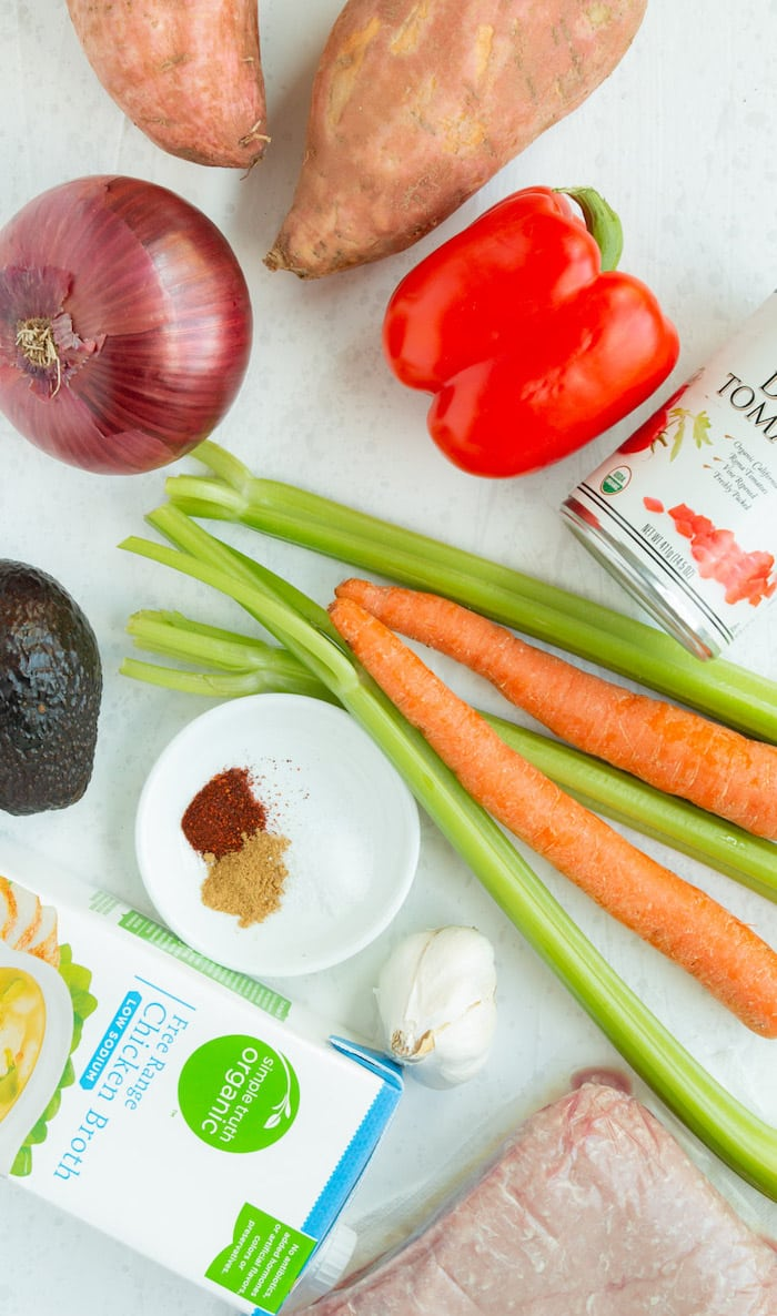 Ingredients for a paleo, bean-free quick-cooking recipe.
